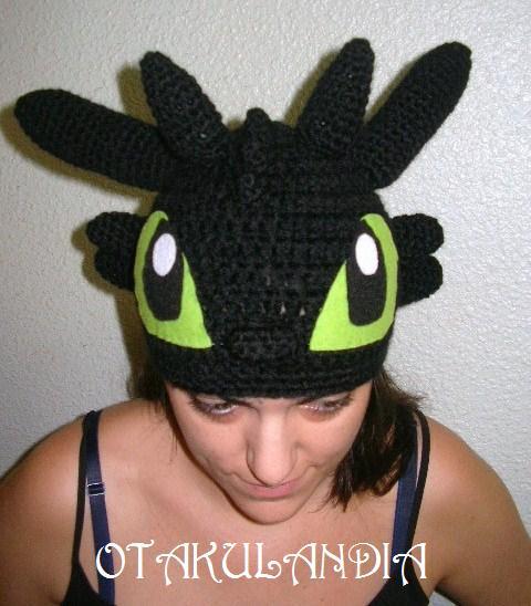 furia nocturna gorro crochet-otakulandia.es