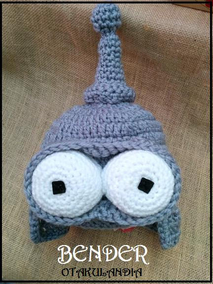 bender futurama-gorro crochet-otakulandia.es (1)