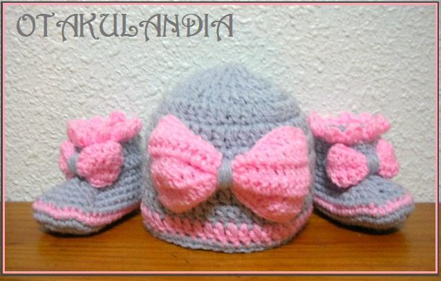 conjunto pink bebe crochet-otakulandia.es