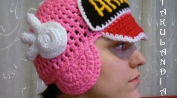 gorro arale crochet adulto-otakulandia.es