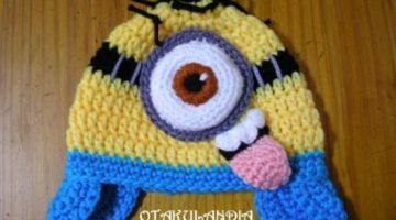 gorro minion burlon orejeras-crochet-otakulandia.es (1)