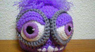gorro minion malo bebe crochet-otakulandia.es