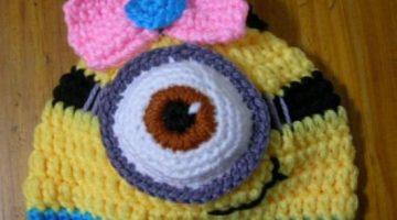 gorro minion nena bebe crochet-otakulandia.es