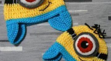 gorro minion orejeras crochet-otakulandia.es