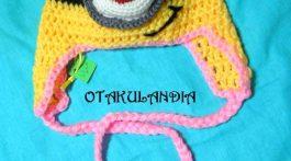 gorro minion nena crochet-otakulandia.es