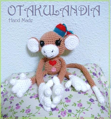 monito amigurumi bebe-otakulandia.es