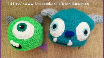 monstruos-s.a.-gorros personajes crochet-otakulandia.es