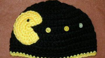 pacman-gorro-adulto-crochet-otakulandia.es