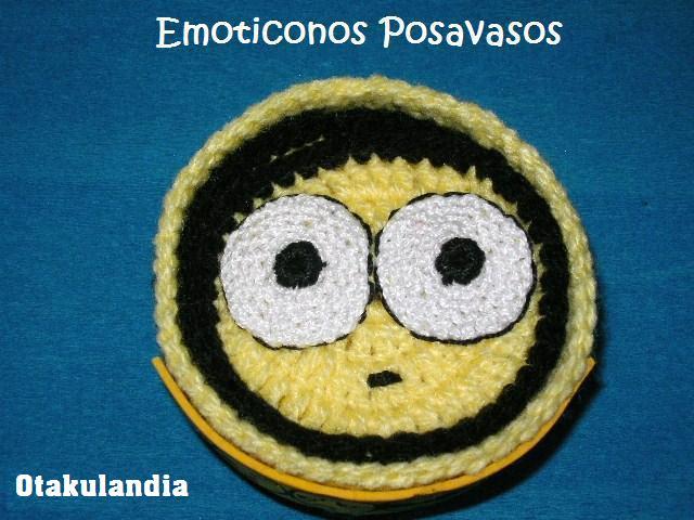 Emoticonos Posavasos Crochet
