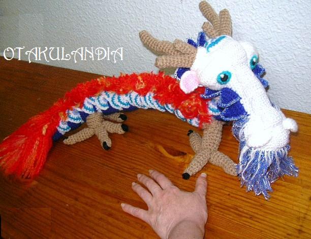 dragon chino amigurumi-otakulandia.es
