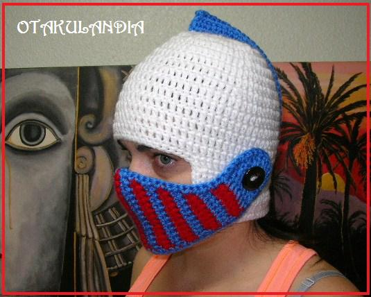 casco medieval crochet-otakulandia.es