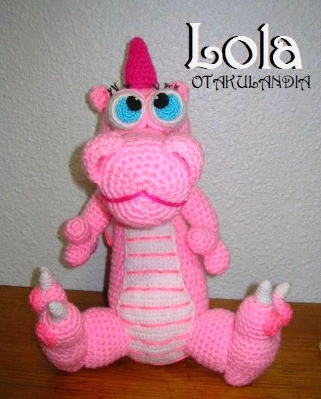 Dragon Rosa Lola crochet-otakulandia.es