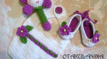 conjunto bebe bambola crochet-otakulandia.es