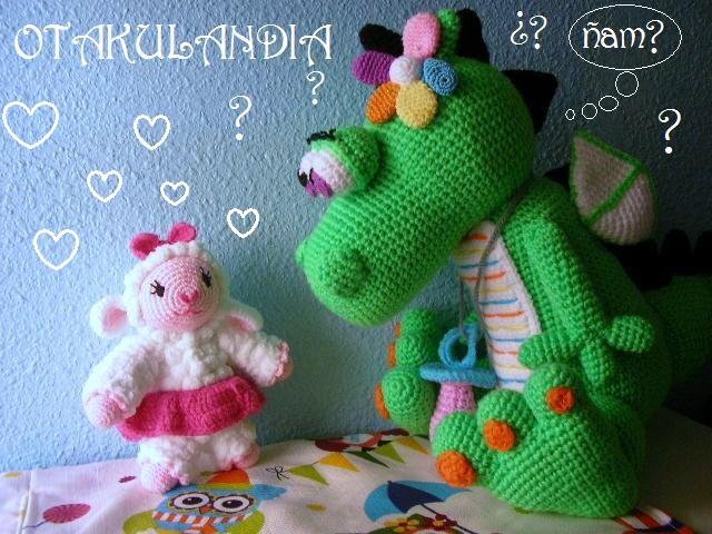 dragoncita-verde-enamorada-otakulandia.es