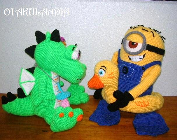 minion vs dragon verde-otakulandia.es