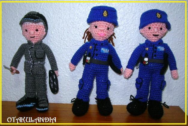 POLICIAS Y MECÁNICO - Amigurumis personalizados
