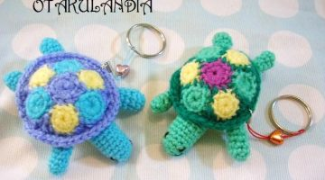 tortuga llavero crochet-otakulandia.es