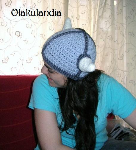 vikingo gorro crochet-otakulandia.es