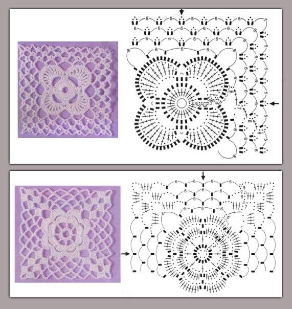 Perfecto Granny Flor Patrón De Crochet Cuadrado Composición - Ideas ...