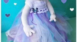 vestido unicornio azul-violeta 3-6m-otakulandia.es