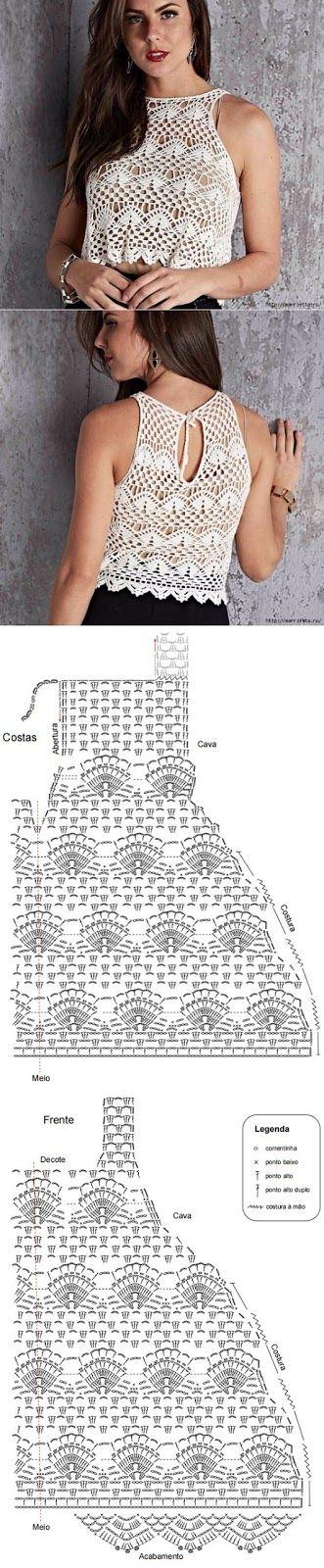 blusa crochet-tutorial-otakulandia.es