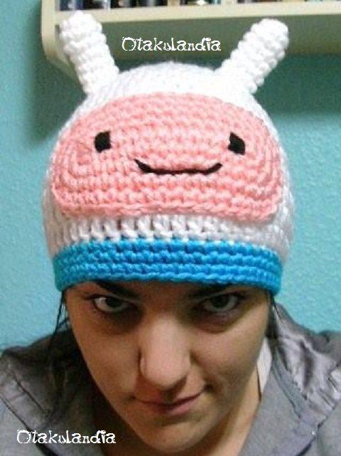 gorro finn-h.aventuras crochet-otakulandia.es