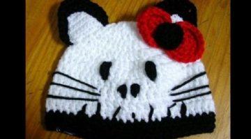 gorro kitty zombie-crochet-otakulandia.es