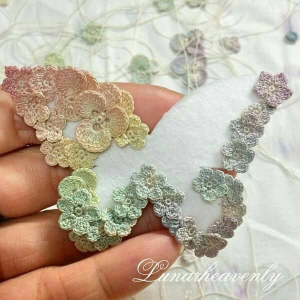 mariposa broche crochet-otakulandia.es