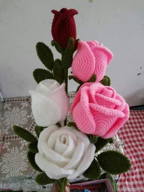 ramo flores crochet-decoracion-otakulandia.es (14)