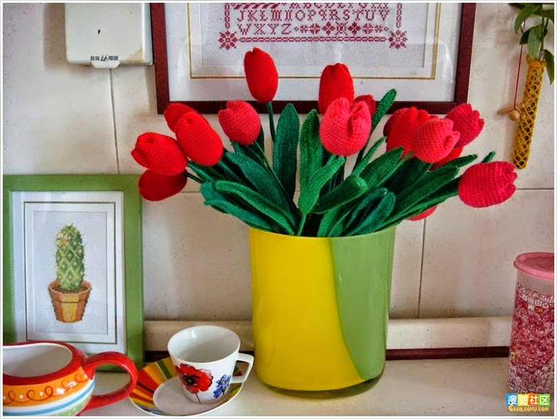 ramo flores crochet-decoracion-otakulandia.es (27)