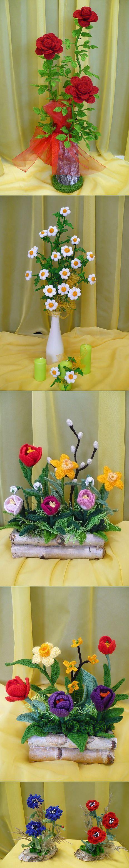 ramo flores crochet-decoracion-otakulandia.es (3)