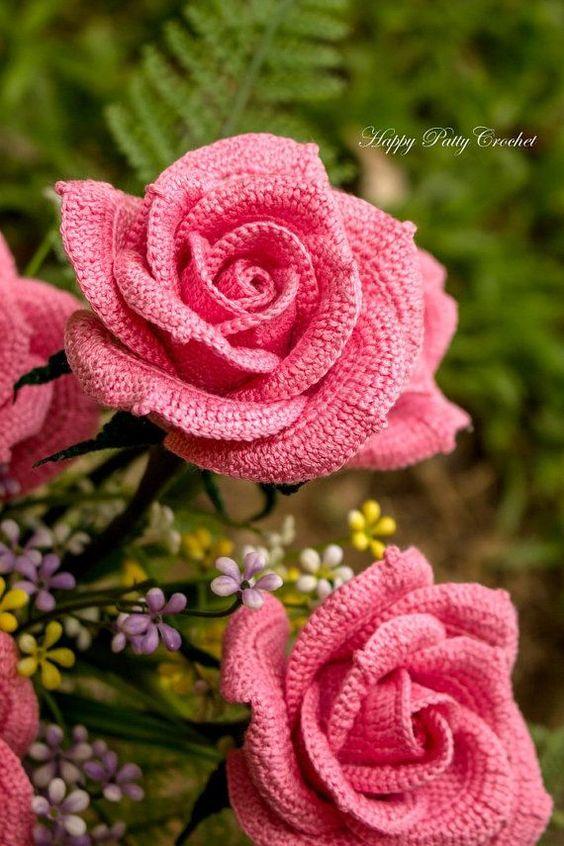 Flores Tejidas En Crochet. Flores Tejidas Al Crochet Souvenir Centro ...