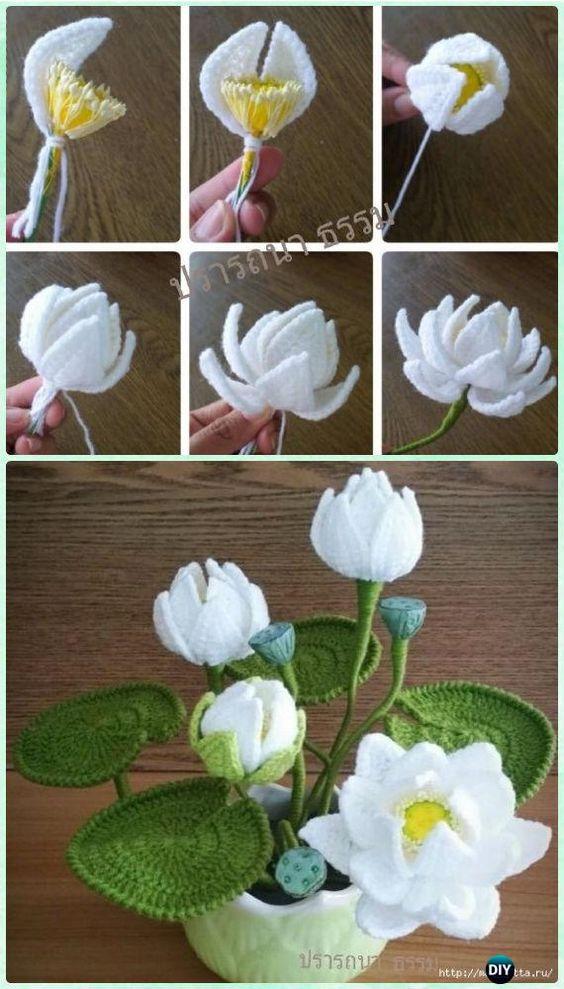 ramo flores crochet-decoracion-otakulandia.es (47)