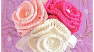 rosas crochet-mono pelo-otakulandia.es