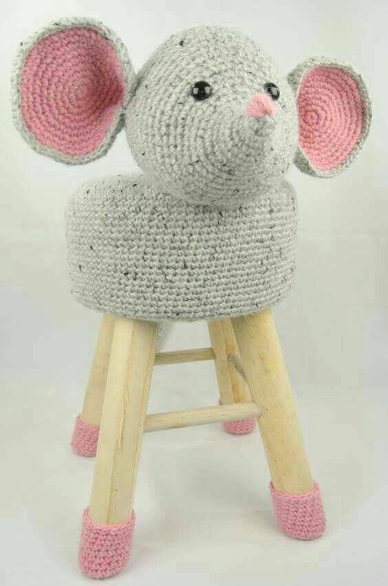banquetas animalitos crochet-otakulandia.es (2)