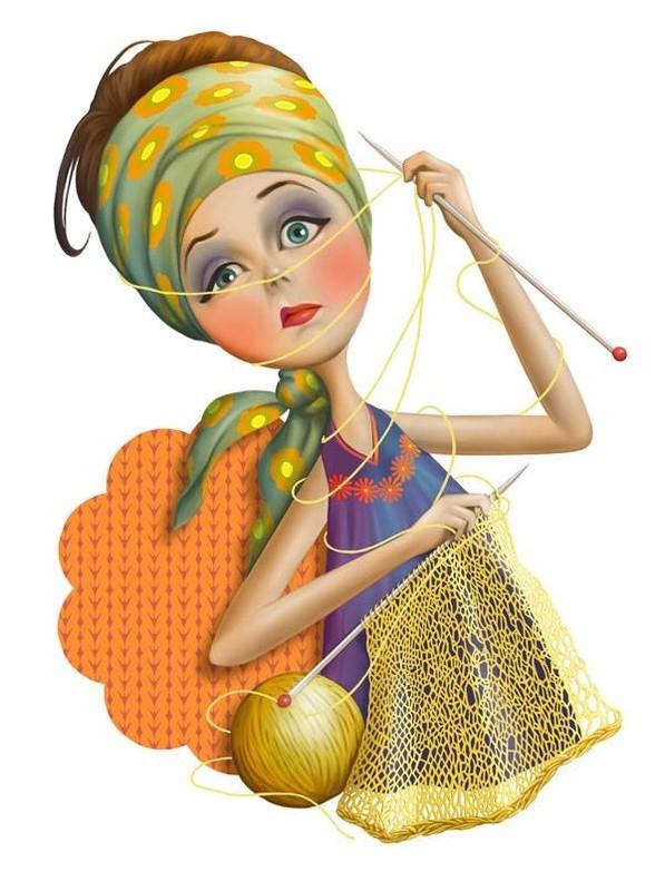 dibujos artesanas tejedoras-otakulandia.es (17)