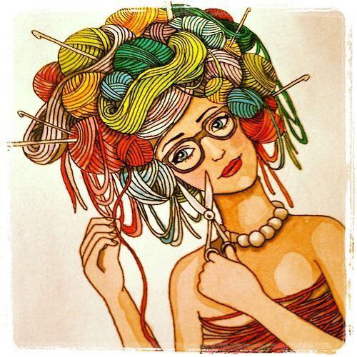 dibujos artesanas tejedoras-otakulandia.es (2)