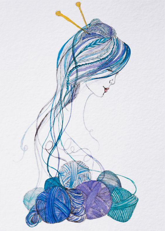 dibujos artesanas tejedoras-otakulandia.es (21)