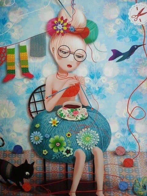 dibujos artesanas tejedoras-otakulandia.es (3)
