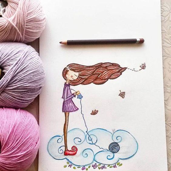 dibujos artesanas tejedoras-otakulandia.es (4)