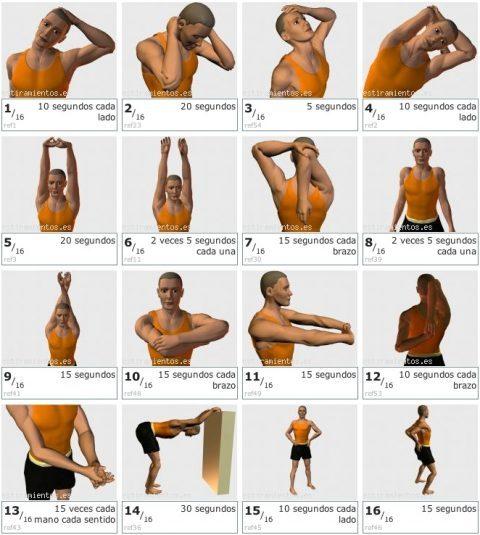 estiramientos-ejercicios artesanas crochet-otakulandia.es