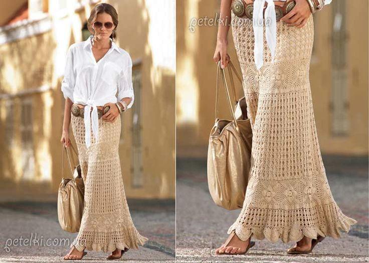 Las 52 Faldas Largas de Crochet más bonitas de Internet ...