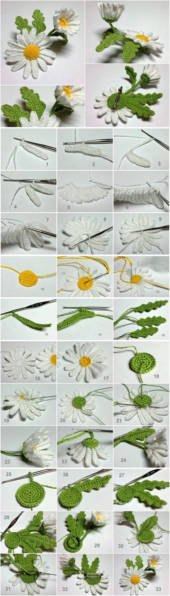 margaritas crochet-foto tutorial-otalulandia.es
