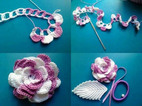 Hacer Flores De Ganchillo Stunning Funda De Cojn Flores De