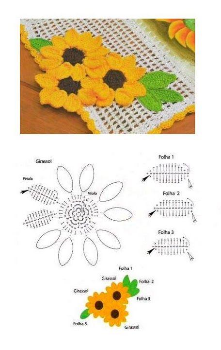 52 Flores en Crochet con Patrón | Otakulandia.es