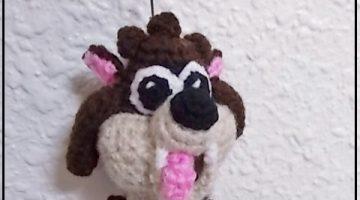 taz-demonio tasmania-llavero-crochet-otakulandia.es
