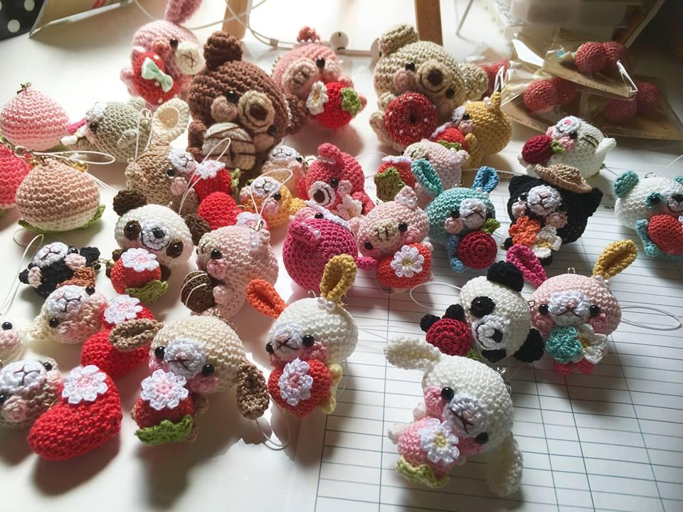 kawaii llaveros crochet-ideas-otakulandia.es