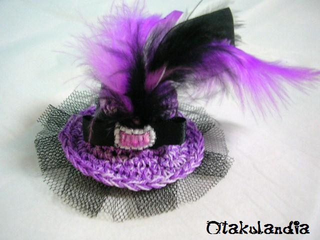 souvenir boda broche sombrero romantico crochet-otakulandia.es