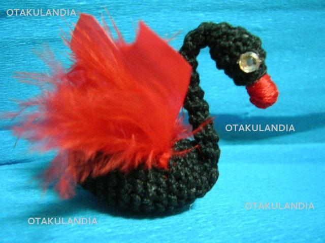 souvenir boda cisne negro crochet-otakulandia.es