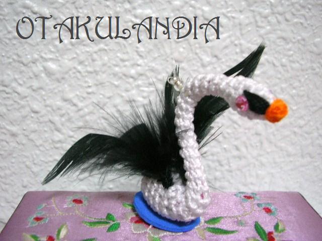 souvenir boda cisne blanco crochet-otakulandia.es